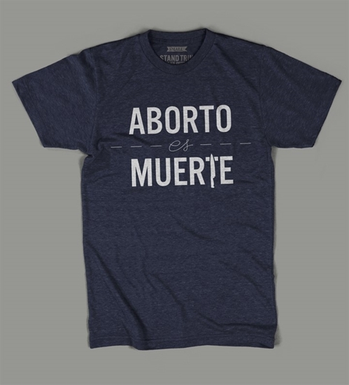Picture of ABORTO es MUERTE short sleeve t-shirt (nvy/wht) t-shirt