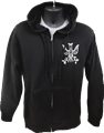 Picture of SOCIAL JUSTICE BEGINS IN THE WOMB (black) zip-up hoodie